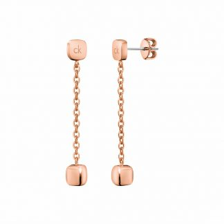 Calvin Klein oorbellen side rose-0